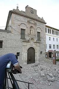 El convento de Virgen de las Huertas tras el seísmo