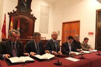 Ramón Luis Valcárcel preside la firma del convenio de colaboración para la restauración y rehabilitación integral del santuario Virgen de las Huertas de Lorca