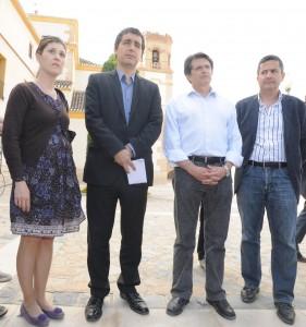 El consejero de Cultura y Turismo informa sobre los daños en el patrimonio cultural lorquino