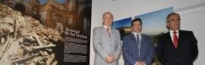 Carlos Egea, Francisco Jódar y Federico Ros, durante la presentación de la oficina.  GLORIA NICOLÁS