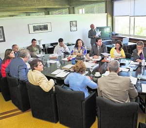 Participantes en la reunión celebrada ayer en Madrid. Foto: LV