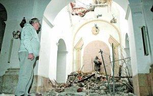 Así ha quedado la capilla de San Antonio, en la iglesia de San Cristóbal. Sonia M. Lario/ AGM