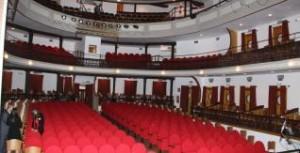 Interior del teatro, antes de ser dañado por los seísmos.  PEDRO A. MARTÍN