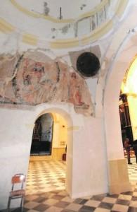 Pinturas descubiertas en el Santuario de las Huertas. :: P. A. / AGM
