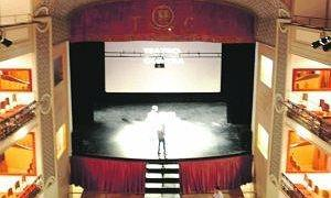 El patio de butacas del Teatro Guerra, recién restaurado. :: P. A. / AGM