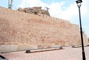 Las obras han afectado a un tramo de muralla de 190 metros de entre los siglos XII y XV. / Paco Alonso